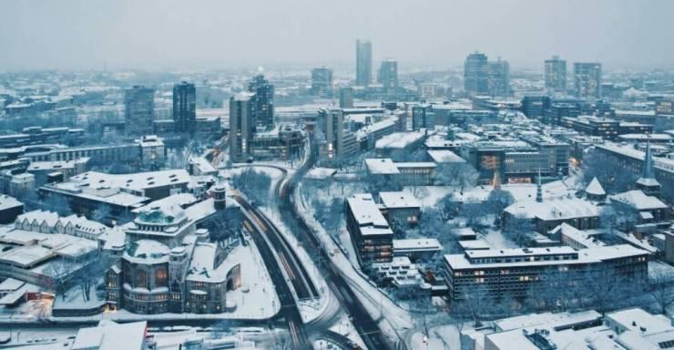 Снег в Эссене