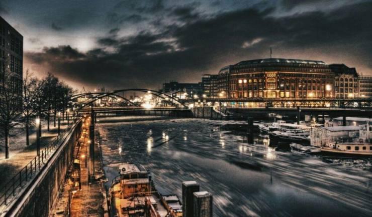 Гамбург зимой