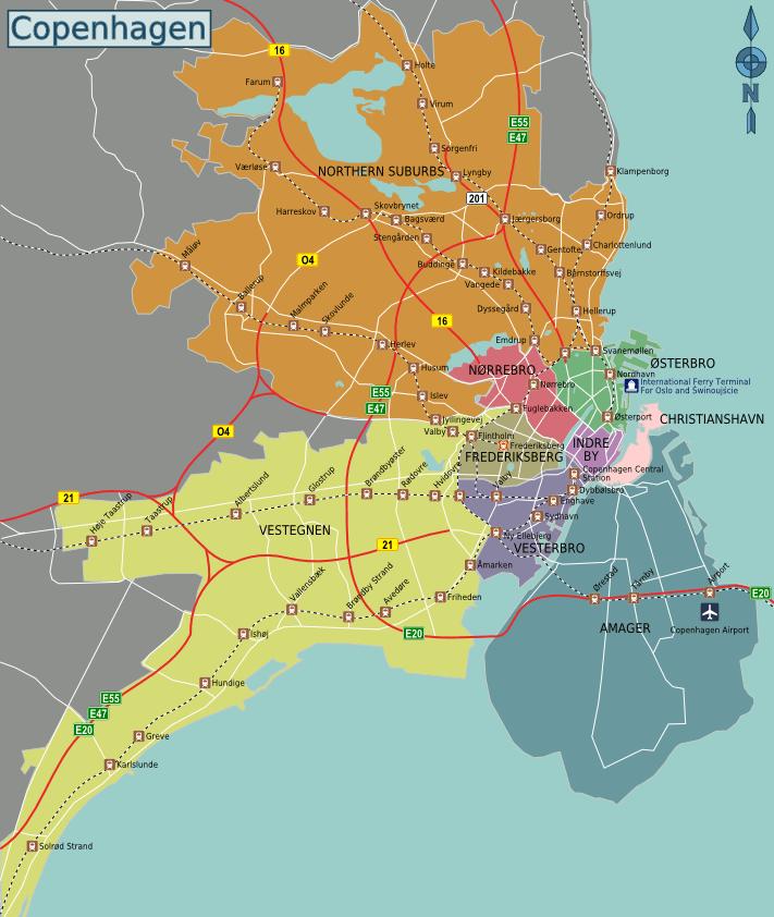 Районы Копенгагена