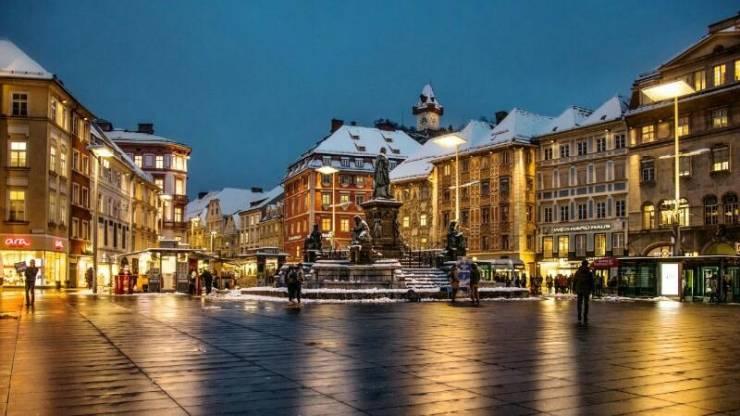 Главная площадь зимой