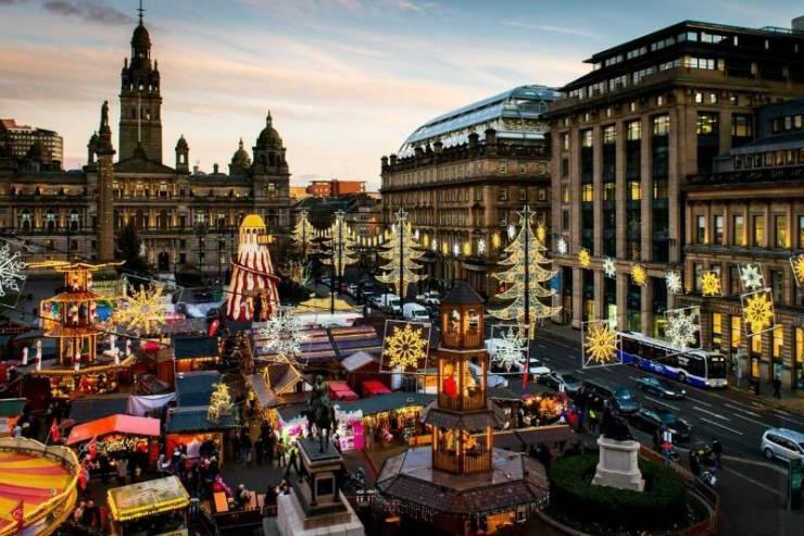 Рождественский рынок в Глазго