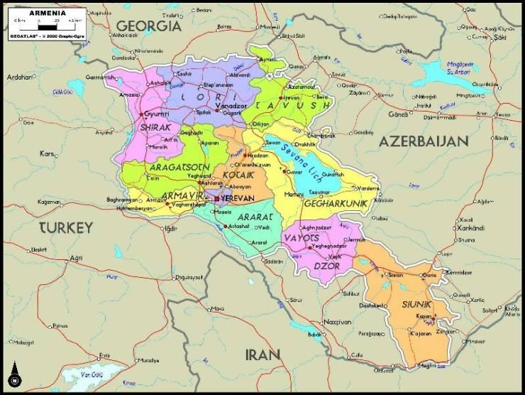 Административное деление Армении