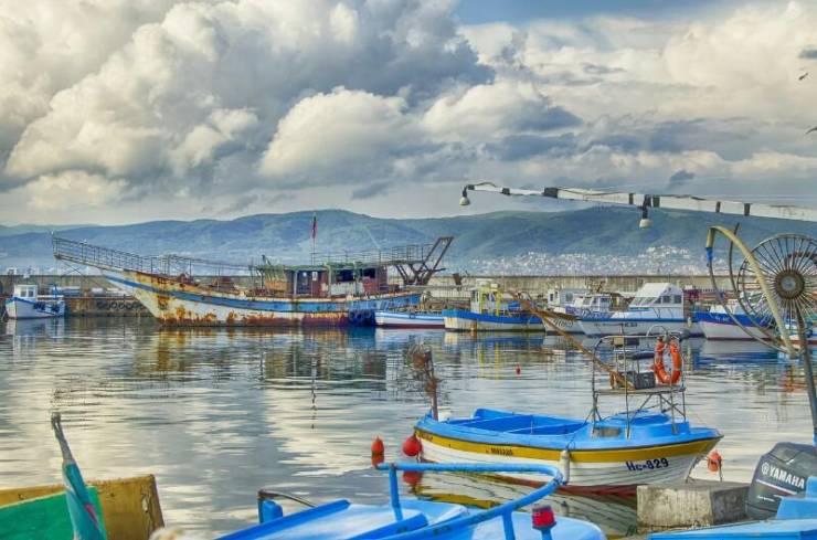 Рыболовецкая гавань на Чёрном море