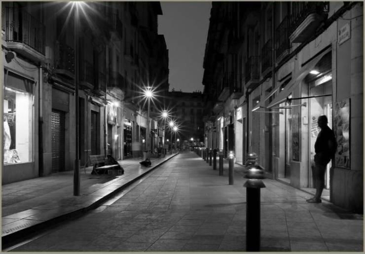 Ночные улицы Жироны