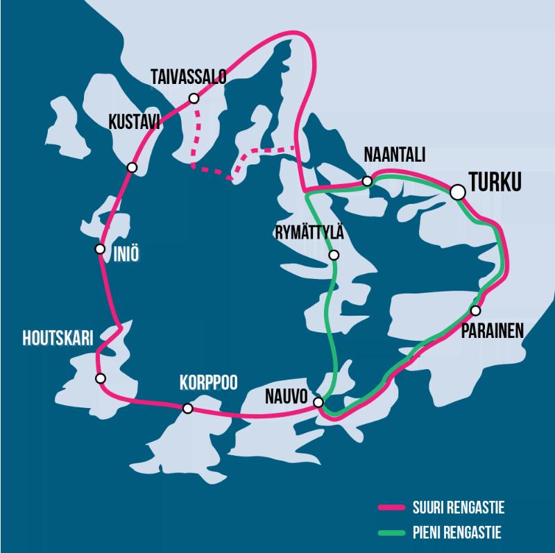 Маршрут по островам и побережью Архипелагового моря